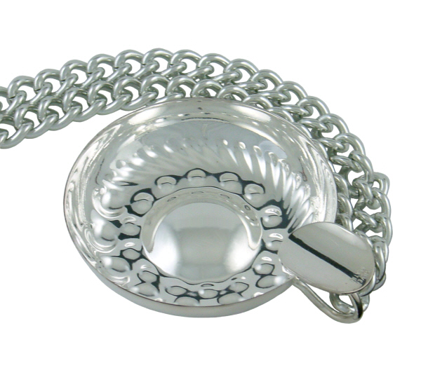 Gift Ideas : Burgundian Tastevin (Silver Plate) with Chain (Nickel Plate)