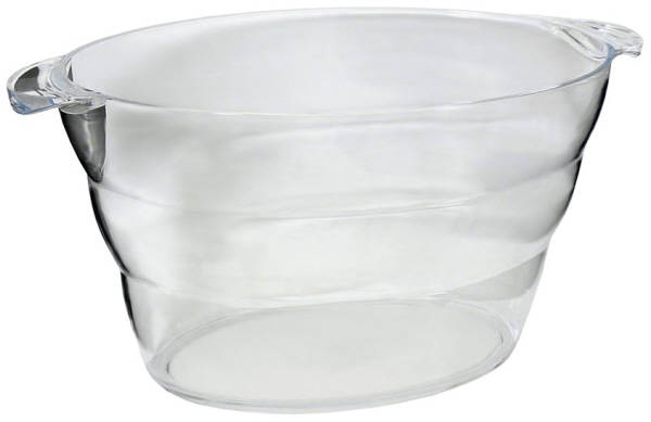 Wine Coolers, Champagne & Wine Buckets etc : Large Ripple Wine Bucket Clear Plastic - 5 bottles