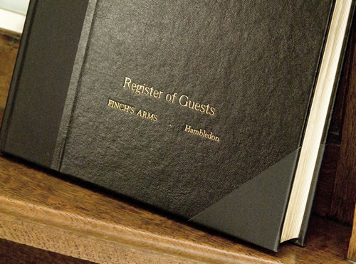 Hotel and Restaurant Diaries / Registers : The Register of Guests Book (with Gold Blocking)