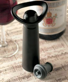 Wine Preservation and Wine Breathers : Vacu Vin Concerto Wine Saver with 4 stoppers