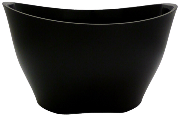 Wine Coolers, Champagne & Wine Buckets etc : Wine Bucket Oval - Large - Matt Black Acrylic