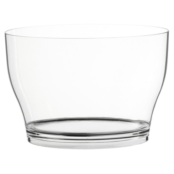 Wine Coolers, Champagne & Wine Buckets etc : Wine Bucket Ovale - Clear Acrylic Large