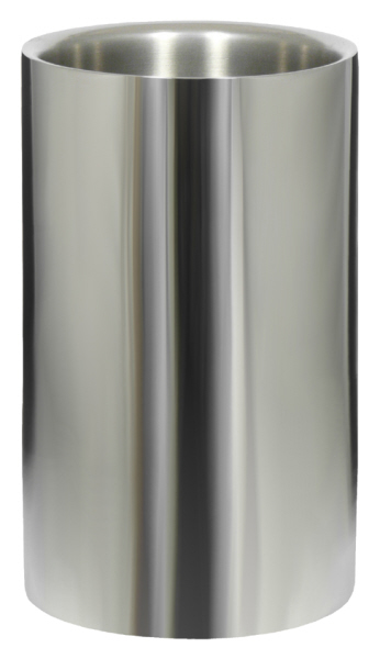 Wine Coolers, Champagne & Wine Buckets etc : Wine Cooler Double Walled (Polished Stainless Steel)