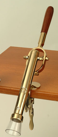 All Corkscrews : Bar- Mounted Corkscrew (Brass Plate)