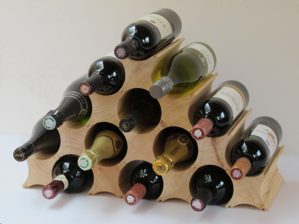 Bottle Block Wine Rack - 1 Pack (holds up to 13 bottles)
