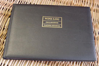 Gift Ideas : Cellar Book (Black Leather Bound)