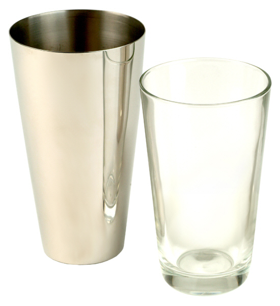 Cocktail Accessories : Cocktail Shaker Boston Style 0.5 litre (Stainless Steel and Glass)