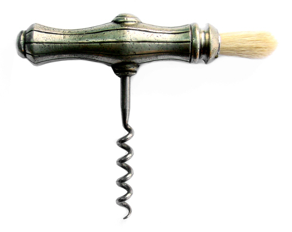 Christmas Gift Ideas : Corkscrew - Pewter with Brush
