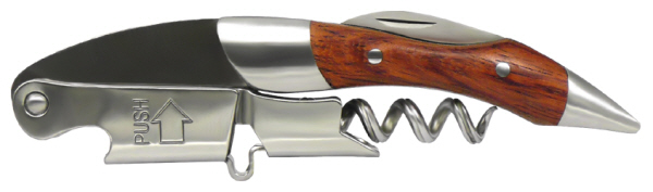 Hand Held Corkscrews : Coutale Prestige Corkscrew Wooden Handle