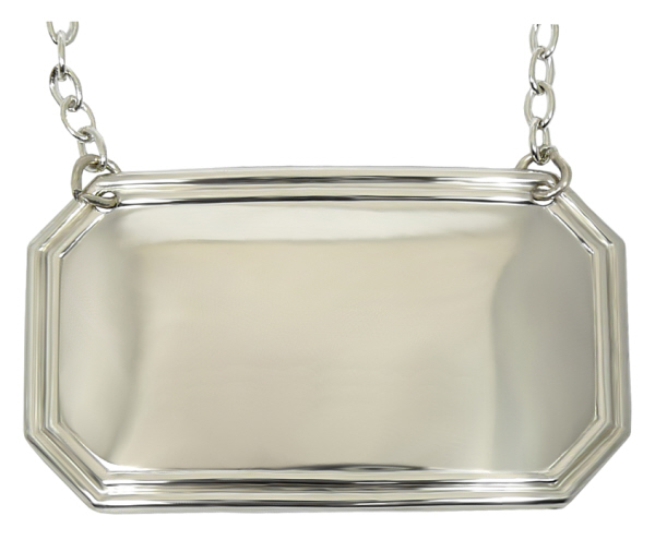 All Decanting Accessories : Decanter Label - Rectangular (Silver plate)
