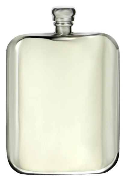 Gift Ideas : Hip Flask Pewter - Rectangular - Victorian 6oz