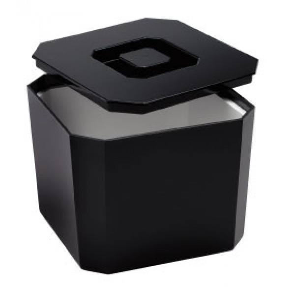 Ice Buckets : Ice Bucket - Square Plastic  - Black