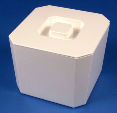 Ice Bucket Square Plastic White Buckets