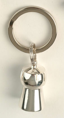 Christmas Gift Ideas : Key Ring - Champagne Cork Silver Plate