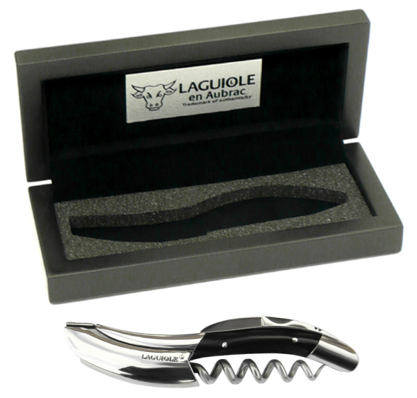 All Corkscrews : Laguiole en Aubrac Corkscrew (presentation box) (Buffalo Horn)