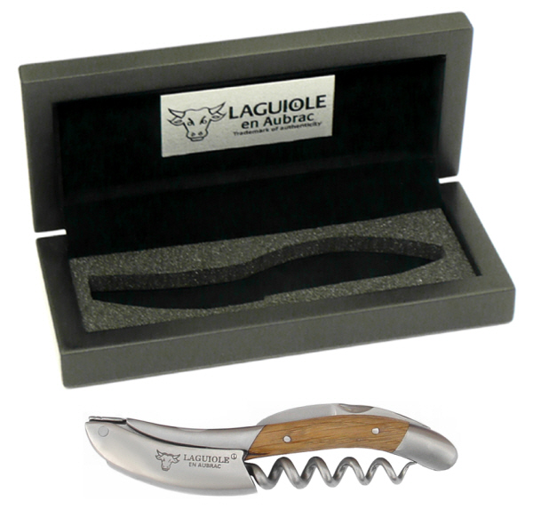 Hand Held Corkscrews : Laguiole en Aubrac Corkscrew (presentation box) (Oak)