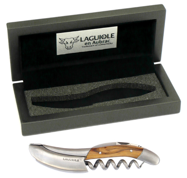 Hand Held Corkscrews : Laguiole en Aubrac Corkscrew (presentation box) (Olive Wood)