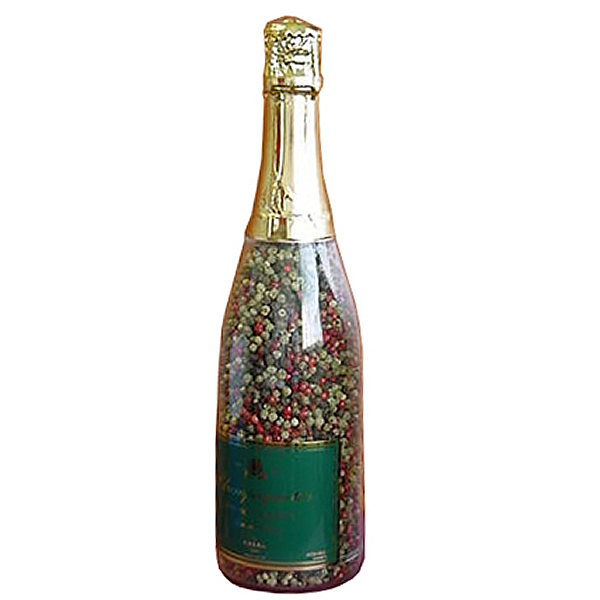Champagne Accessories : Pepper Mill Champagne Bottle