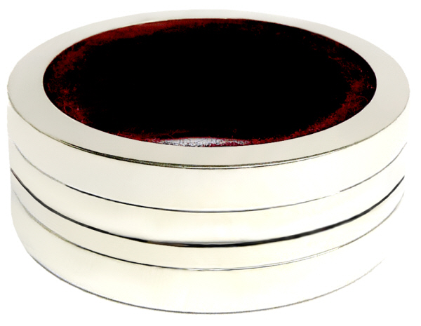 Drip Rings : Plain Drip Ring for wine Bottles (Pewter)