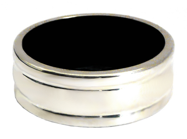 Drip Rings : Plain Drip Ring for wine Bottles (Silver)