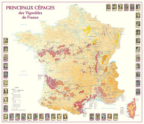 Wine Region Map Of France.Wine Maps French Wine Regions Map Burgundy Wine Map At Fine Wine