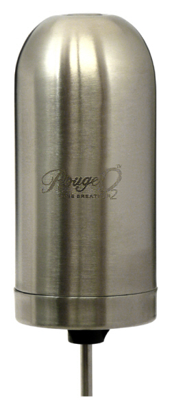 Wine Preservation and Wine Breathers : Rouge O2 Electronic Wine Breather - Stainless Steel