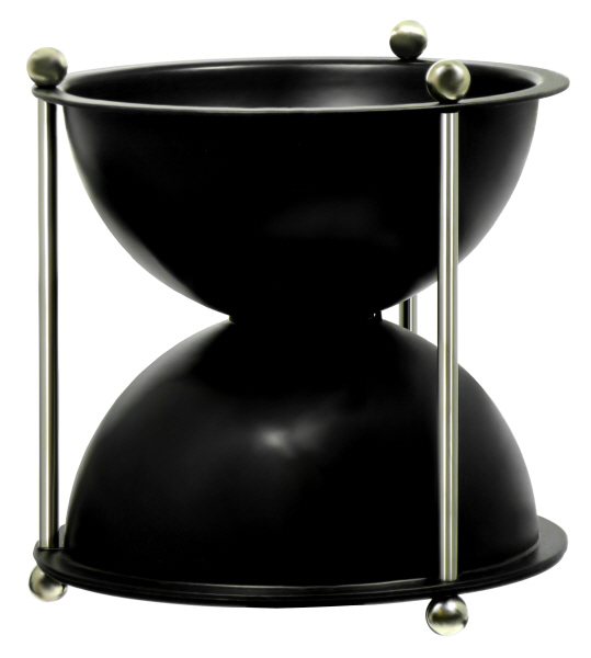 Wine Tasting Accessories : Spittoon Oeno Hourglass ABS Plastic - Black (1 litre)