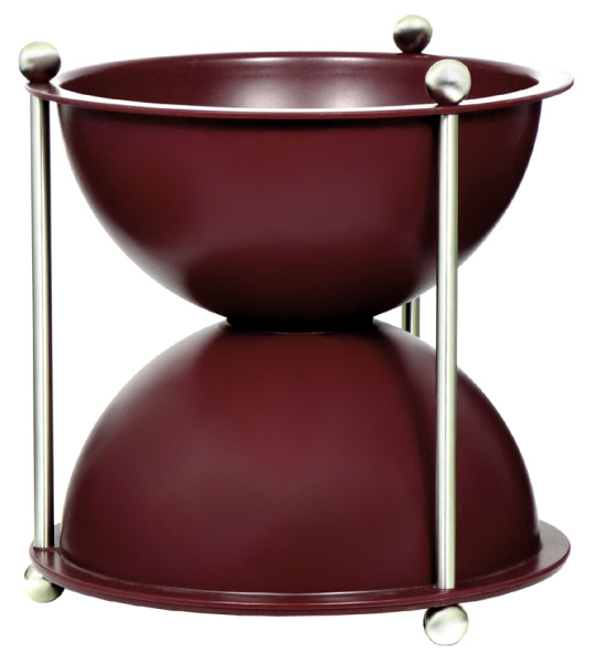 Wine Tasting Accessories : Spittoon Oeno Hourglass ABS Plastic - Burgundy (1 litre)