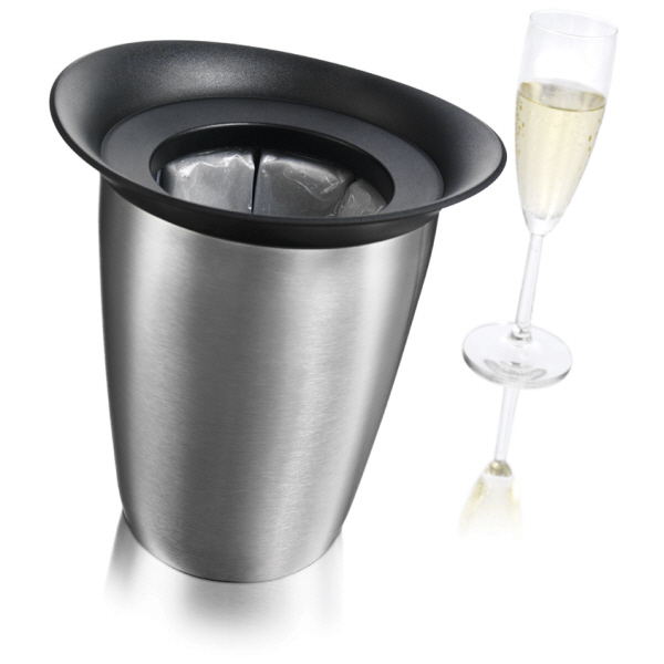 Christmas Gift Ideas : Vacu-vin Rapid Ice Champagne Cooler Elegant - (Stainless Steel)