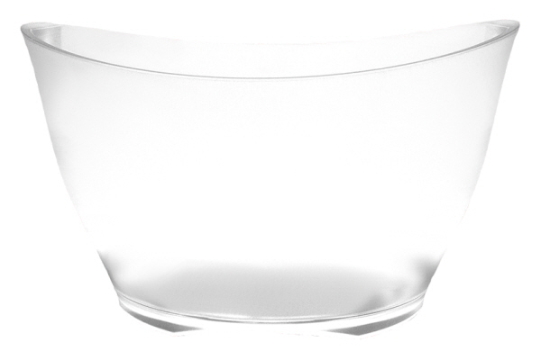 Champagne Accessories : Wine Bucket Oval - Large - Frosted Acrylic