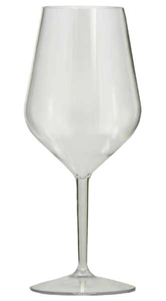 Wine Glasses : Wine Glass polycarbonate - Large (6 x 530cl)